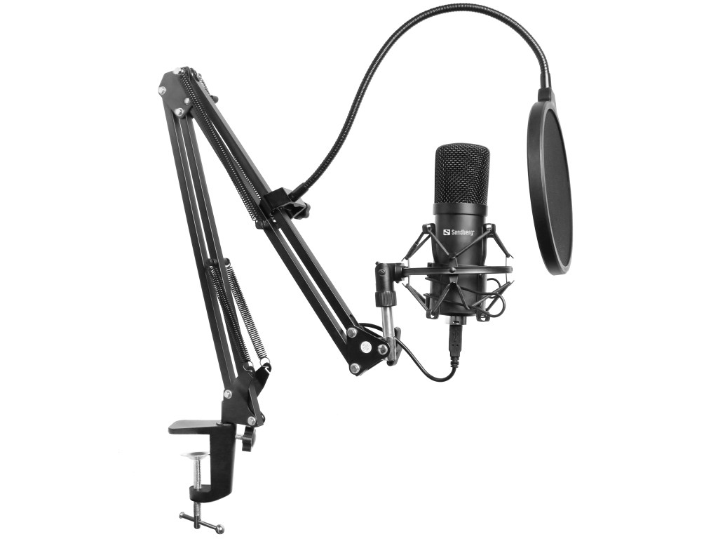 Sandberg-Streamer-USB-Microphone-Kit-set-up
